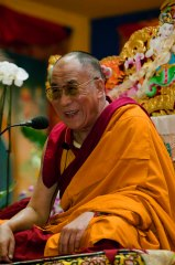 His Holiness the Dalaï Lama in Lerab Ling august 2008 Photo 4 sizes