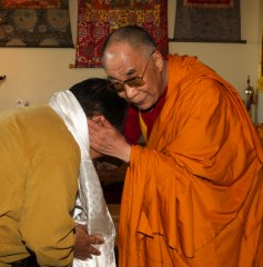 His Holiness the Dalaï Lama and Sogyal Rinpoche Photo 3 sizes