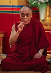 His Holiness the Dalaï Lama in Lerab Ling august 2008 Photo 3 sizes