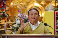 Sogyal Rinpoche teaching in Lerab Ling august 2008 Photo 3 sizes