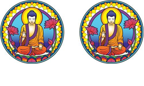 Sticker, Sun catcher, Buddha
