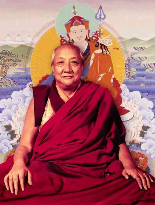 Dilgo Khyentse Rinpoche & Guru Rinpoche Photo 6 sizes