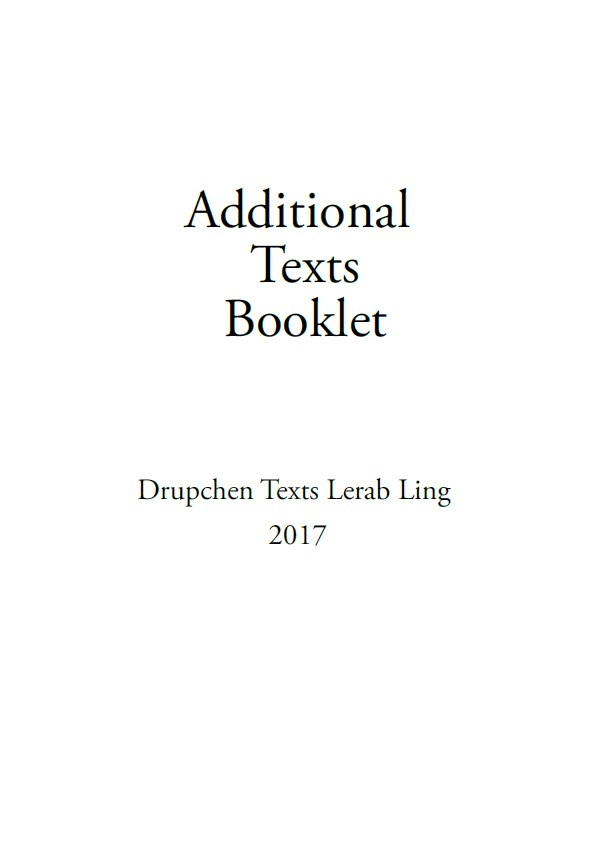 Additional Practice Text Booklet for Drupchen Download