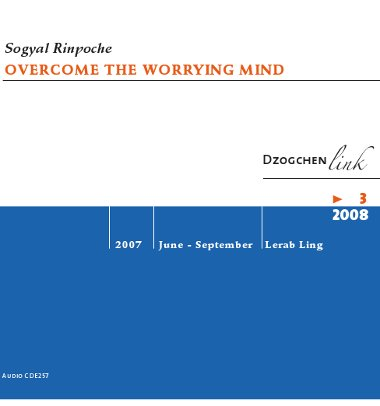 Overcome the worrying mind CD