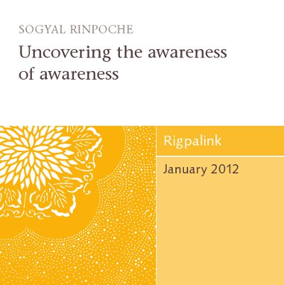 Uncovering the awareness of awareness CD or DVD