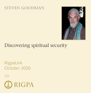 Discovering spiritual security - Steven Goodman audio or video