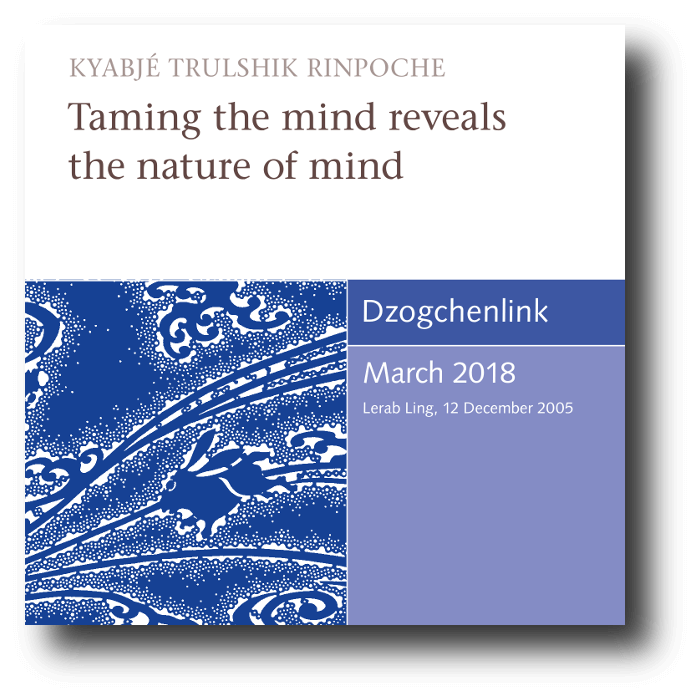 Taming the mind reveals the nature of mind MP3 CD