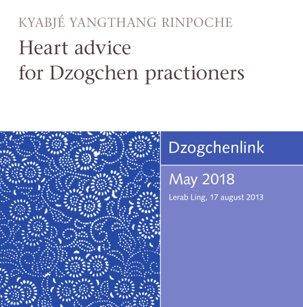 Heart advice for Dzogchen practioners MP3 CD