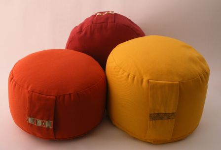 Round yellow meditation cushion 12 cm