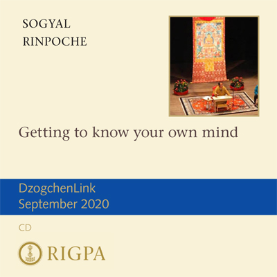 Getting to know your own mind - Sogyal Rinpoche audio or video download or MP3 CD