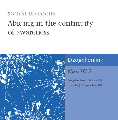 Abiding in the continuity of awareness CD