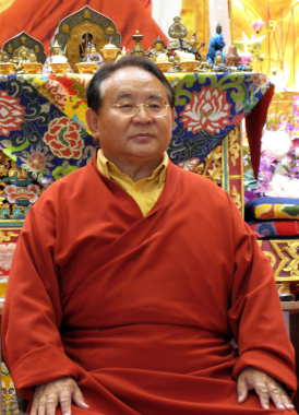 Sogyal Rinpoche sitting Lerab Ling 07 3 sizes