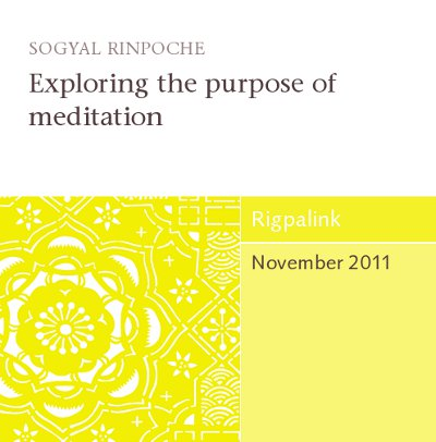 Exploring the purpose of meditation CD or DVD