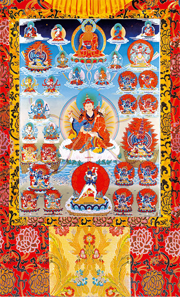 Tendrel Nyesel Vinyl Thangka