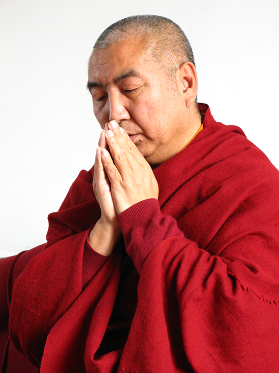 Khenchen Namdrol Rinpoche praying Photos 3 sizes
