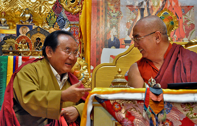 Khenchen Namdrol Rinpoche with Sogyal Rinpoche Photos 3 sizes