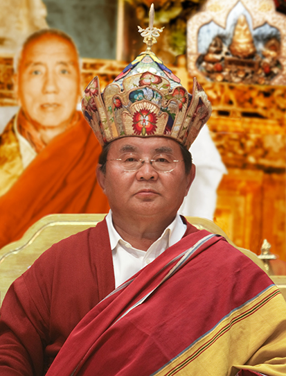 Sogyal Rinpoche with Lotus Crown Photos 3 sizes