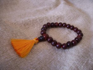 Rosewood wrist Mala 2 sizes of beads