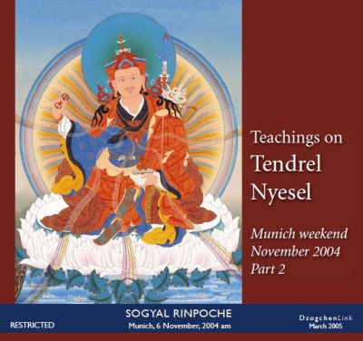 Teachings on Tendrel Nyesel part 2 CD