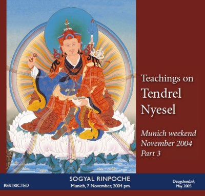 Teachings on Tendrel Nyesel part 3 CD