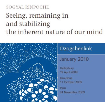 Seeing, remaining in and stabilizing the inherent nature of our mind CD