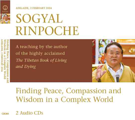 Finding Peace, Compassion and Wisdom in a Complex World 2 CD