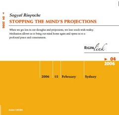 Stopping the Mind's Projections CD or DVD