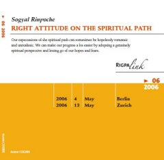 Right Attitude On The Spiritual Path CD or DVD
