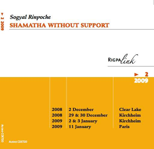 Shamatha Without Support CD or DVD