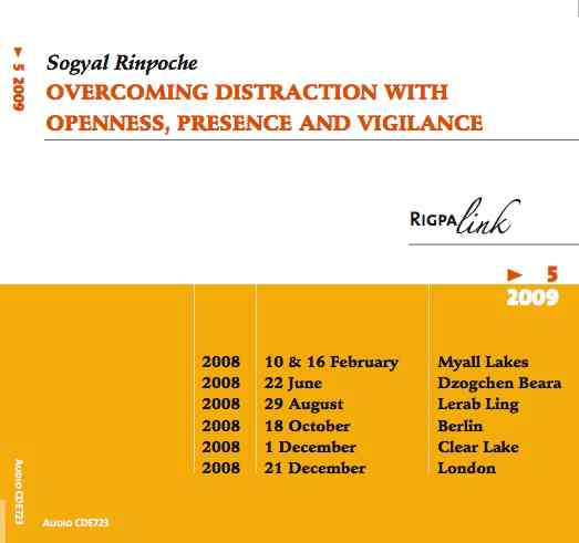 Overcoming distraction with openness, presence and vigilance CD or DVD