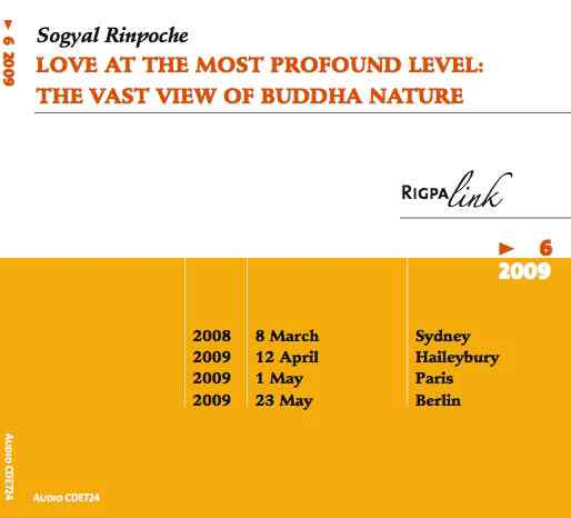 Love At the Most Profound Level: The Vast View of Buddha Nature CD or DVD