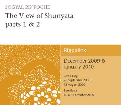 The View of Shunyata - part 1 & 2 CD or DVD