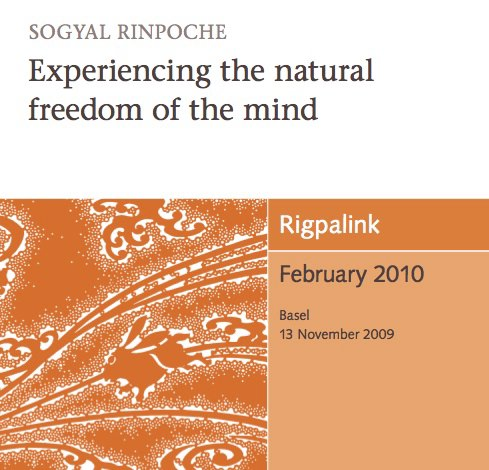 Experiencing the natural freedom of the mind CD or DVD