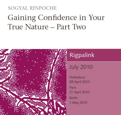 Gaining Confidence in Your True Nature – Part Two CD or DVD