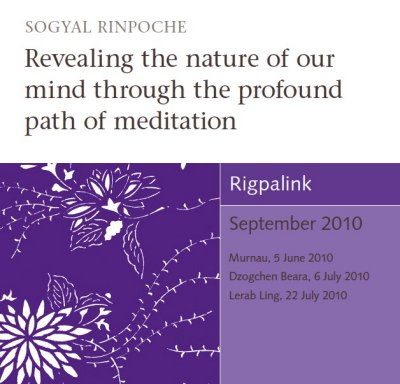 Revealing the nature of our mind through the profound path of meditation CD or DVD
