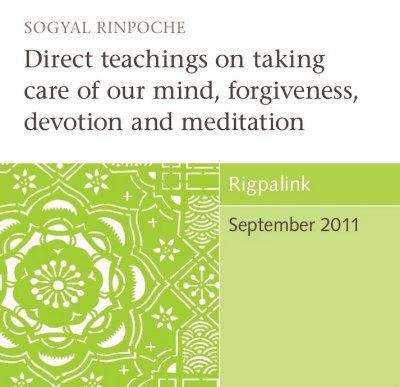Direct teachings on taking care of our mind, forgiveness, devotion and meditation CD or DVD