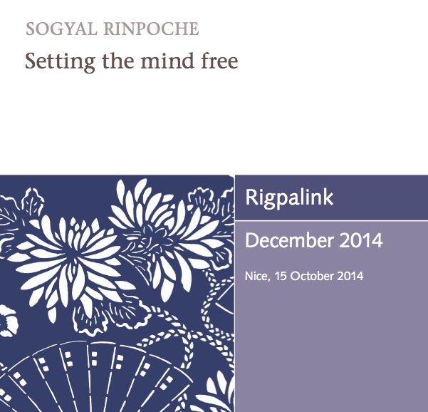 Setting the mind free MP3 or DVD