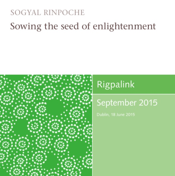 Sowing the seed of enlightenment MP3 or DVD