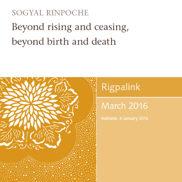 Beyond rising and ceasing, beyond birth and death MP3 or DVD
