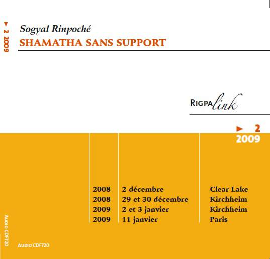Shamatha sans support CD ou DVD