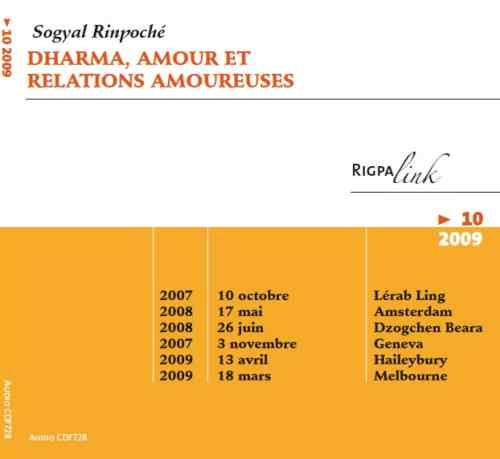 Dharma, amour et relations amoureuses CD ou DVD