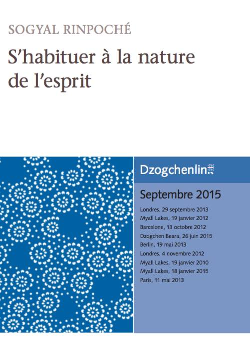 S'habituer à la nature de l'esprit CD MP3+MP4