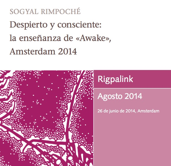 Despierto y consciente: la ensenanza de «Awake», Amsterdam 2014 MP3 o DVD