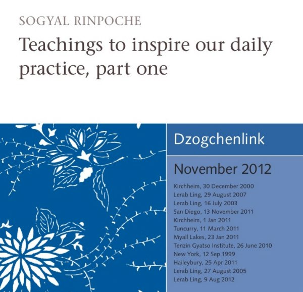 Teachings to inspire our daily practice, part one CD