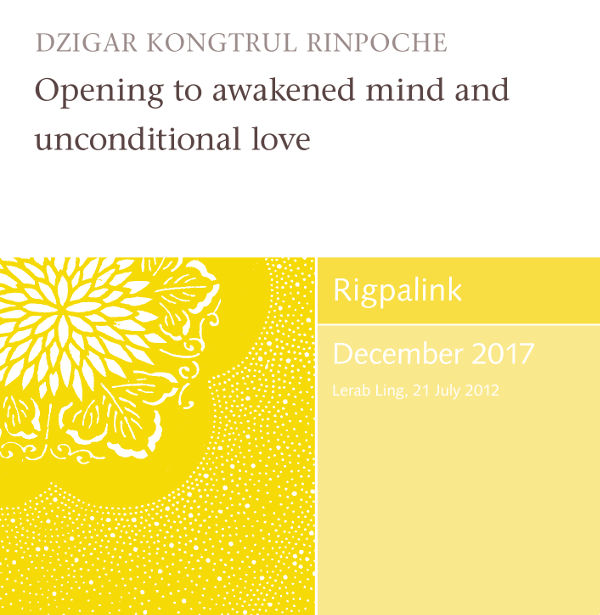 Opening to awakened mind and unconditional love MP3 or DVD