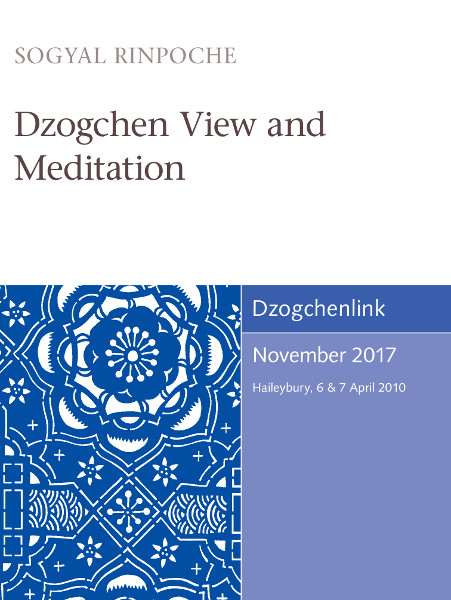 Dzogchen View and Meditation MP3+MP4 CD