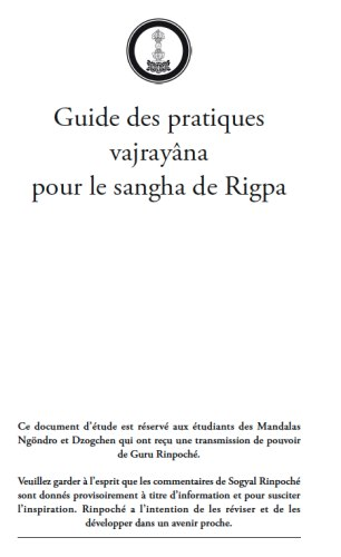 Guide de Pratiques Vajrayana - Click Image to Close