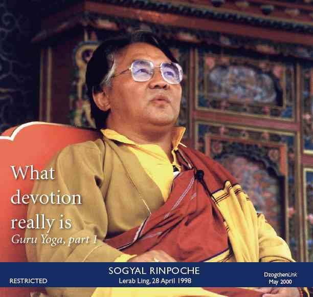 What devotion really is Guru Yoga Part 1 CD