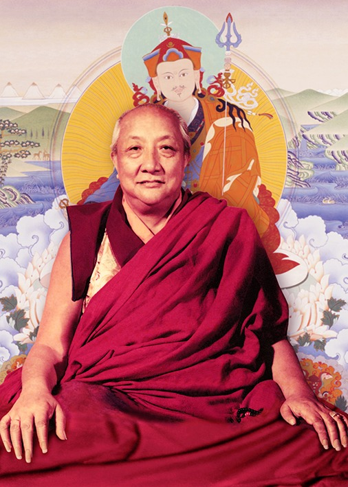 Dilgo Khyentse Rinpoche with Guru Rinpoche Photos 4 sizes