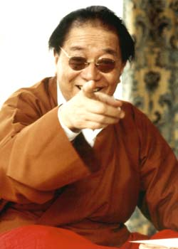 Dudjom Rinpoche pointing Photos 3 formats